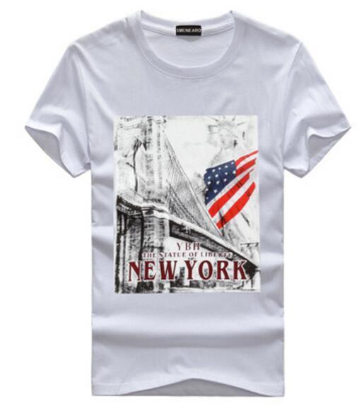 Designer Luxury Europe Tshirt Fashion Men T Shirt Casual Cotton Tee Top American flag printing Summer T-Shirt Short Sleeve