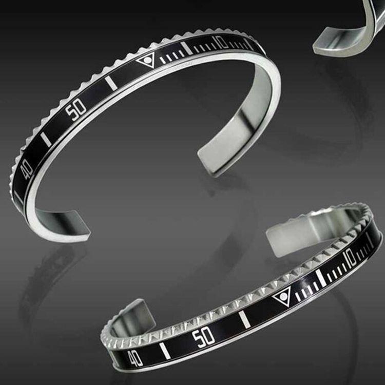 Braccialetti del partito di modo dei monili degli uomini dell'acciaio inossidabile di alta qualità degli orologi di modo di lusso del braccialetto per gli uomini delle donne con la scatola al minuto
