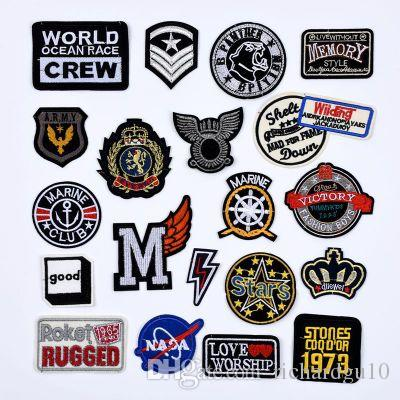 Customized Embroidery Patches Clothing Pastes Hat Badge Pant Trouser Stickers Wallet Bag Star Patches for Jacket Coat DIY Patches
