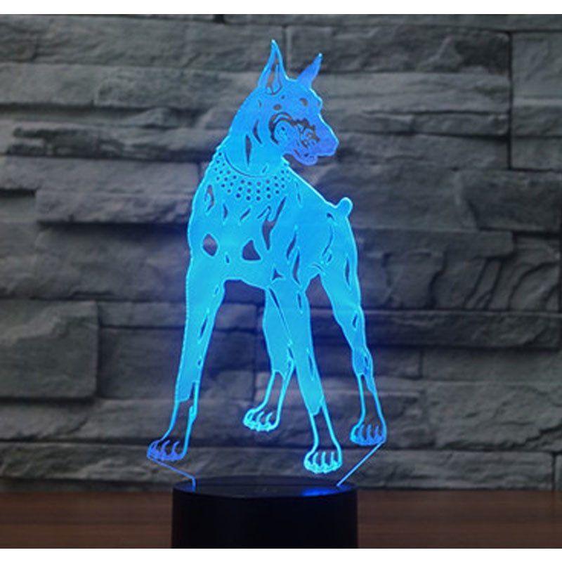Cane 3D Illusion LED Night Light con 7 colori Luce Decorazione domestica Lampada Xmas Home Decor Lampade in acrilico # R21