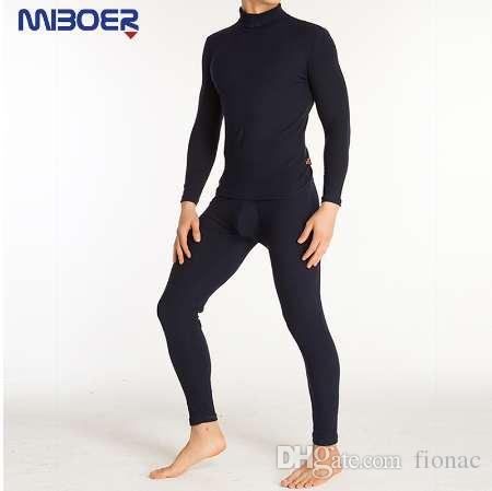 Zestawy bielizny termicznej Super Stretch Długie Johns Bawełniany garnitur termiczny Mężczyźni Komfort Slim Sexy Męskie Ubrania Sexy Dorosłych Produkty
