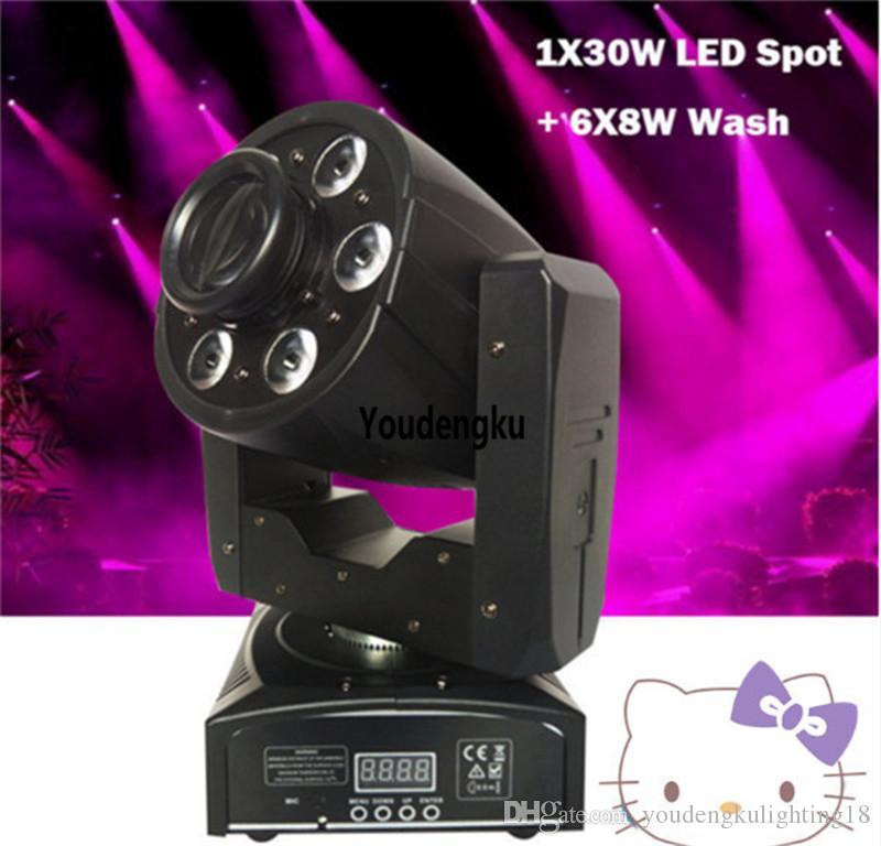 2pieces mini lyre led avec gobos 30w spot 48w rgbw led wash beam movinghead spot head led moving 30w