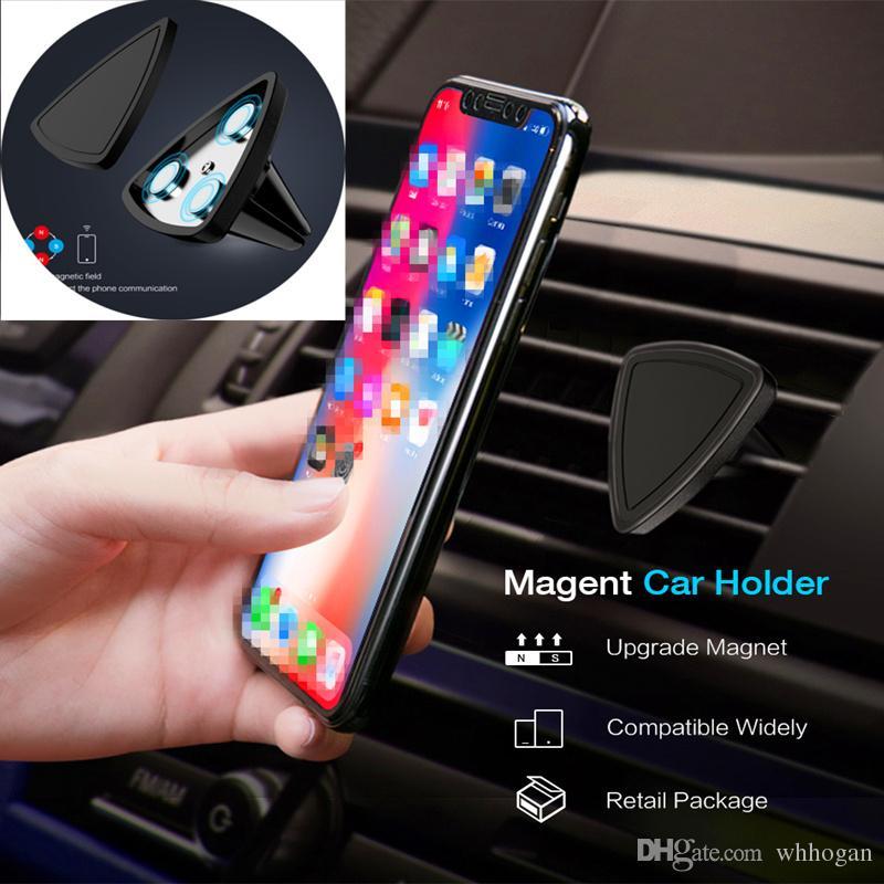سيارة جبل المغناطيسي حامل الهواء تنفيس العالمي سيارة جبل حامل الهاتف لجميع الهاتف الخليوي خطوة واحدة تصاعد مغناطيس أسهل أسهل قيادة