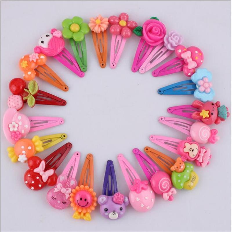 Fermagli per capelli coreani Accessori per capelli fiore carino Resina per bambini Copricapo per bambini Colore per capelli Forcine fatte a mano per bambine 10 pezzi