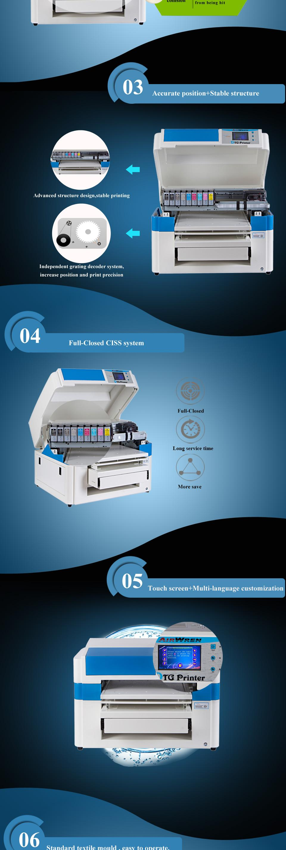 7d3c8155 This dtg printer can print on t shirt,garment,textile,fabric,cotton,etc.we  also provide A3,A2 and larger size digital printers.