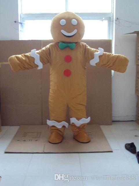 Lebkuchenmann Maskottchen Kostüme Animierte Thema Cookies Baby Cospaly Cartoon Maskottchen Charakter Erwachsene Halloween Party Kostüm Karneval Kostüm