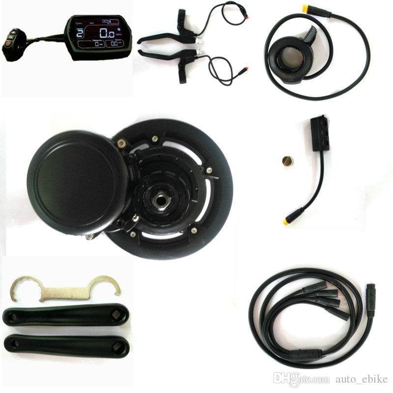 Livraison gratuite EBBS02 DIY CONVERSION KIT EBIKE Midmotor, Capteur de couple 36V 500W Vélo électrique à grande vitesse