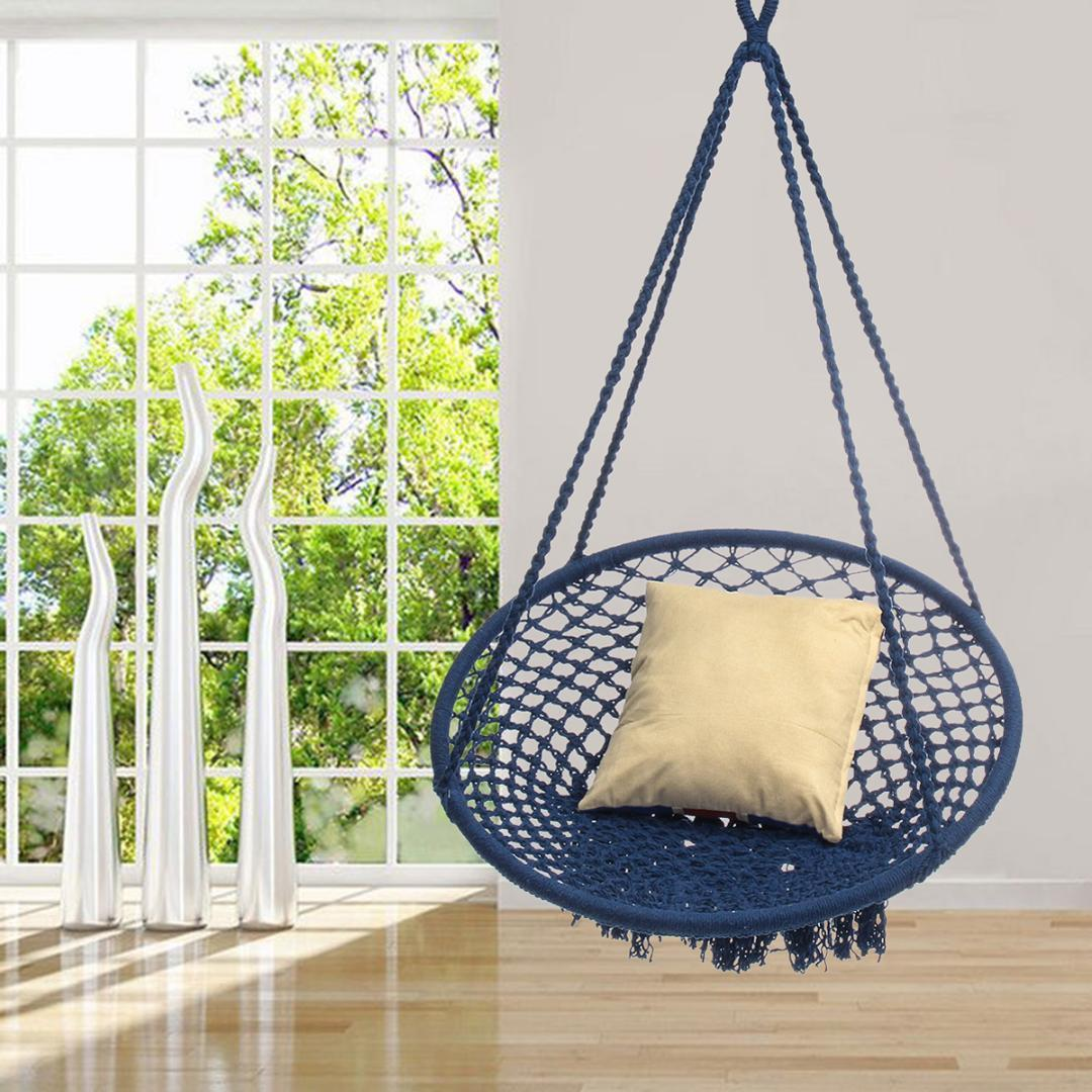 2019 Nordic Style Mesh Hammock Outdoor Indoor Country Hammock Chair For Dormitory Bedroom Chair Safety Swing Hanging From Oopp 140 72 Dhgate Com