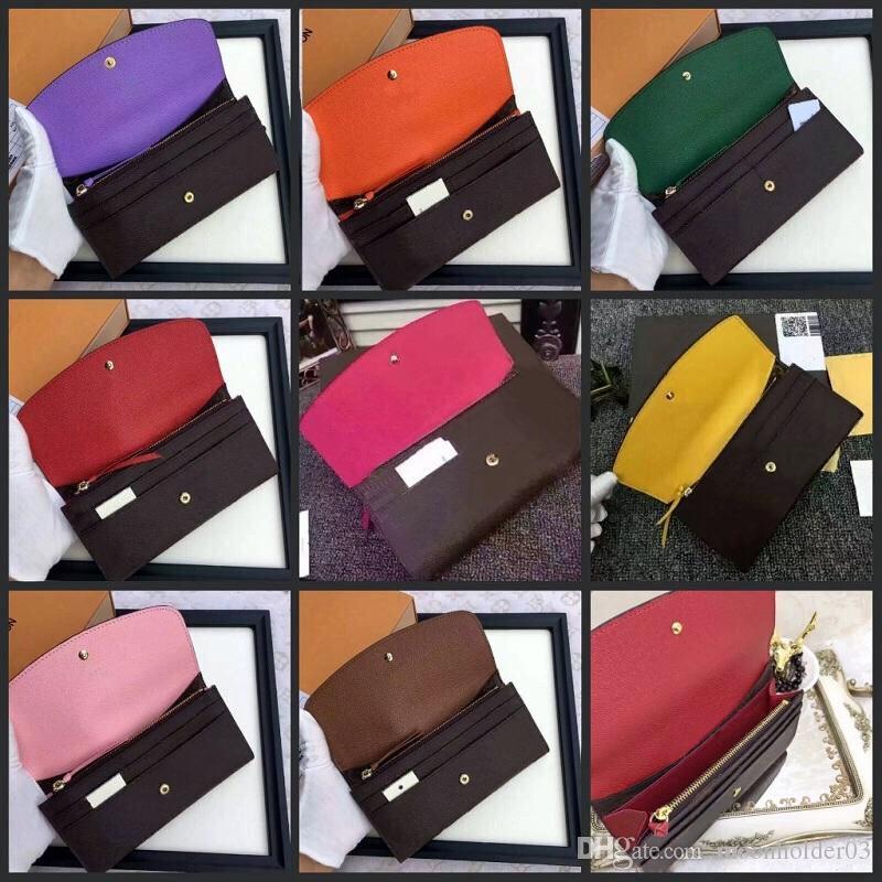 امرأة محفظة طويلة محفظة متعدد الألوان مصمم محفظة colourfull بطاقة الأعمال حالة الأصلي لسيدة عملة محفظة سحاب حالة pocke