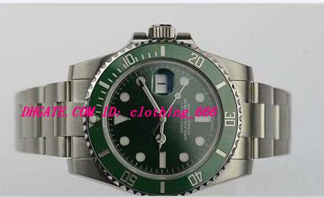 Orologi di lusso V5 Asia 2813 Movimento Uomo Verde da uomo 116610lv Acciaio inossidabile 40mm Bancia in ceramica Zapphire Box Papers Mens Guarda orologio da polso