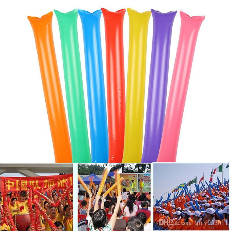100 Pair Inflatable Stick Bangbang Noisemaker Cheering Sticks Birthday Wedding Party Boom Wand Rave Party Vocal Concert Supplies