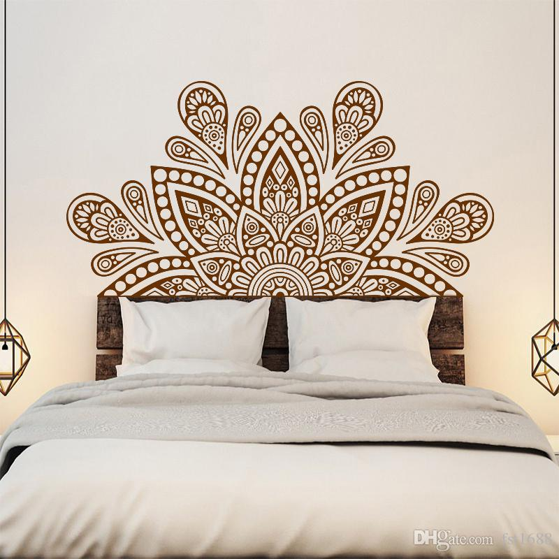 Yoga Lotus Flower Vinyl Wall Sticker Decal Mandala Buddha Symbol Quote WT