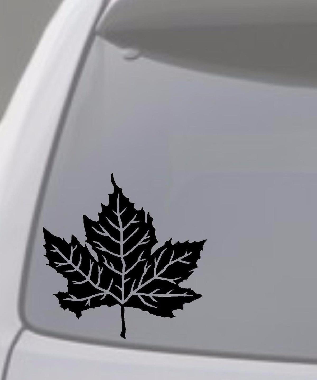 Car Styling For MAPLE LEAF Vinyl Decal Sticker Car Window Wall Bumper Tree Canada Syrup 6x6 Inch