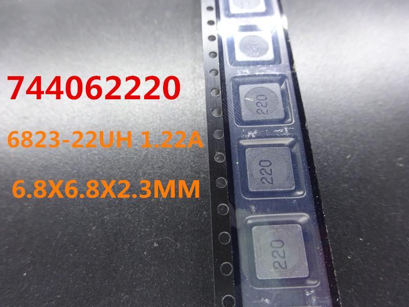 20PCS / الكثير جديد WURTH 744062220 6823-22UH 1.22A 6.8X6.8X2.3MM الشحن المجاني