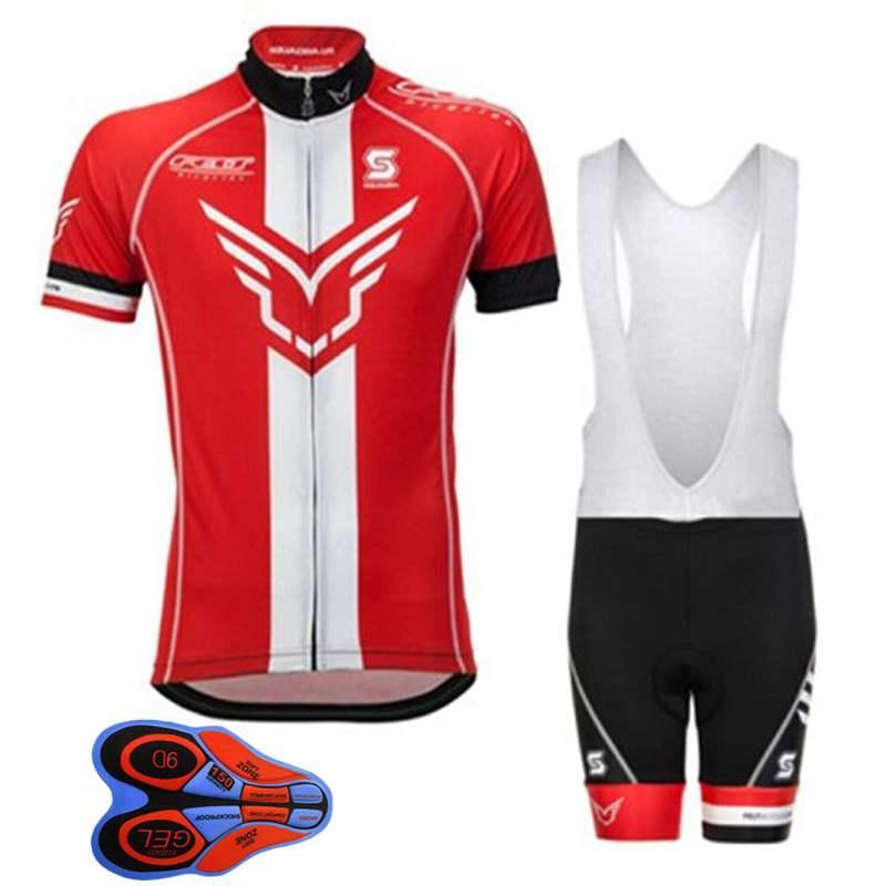 2018 FELT equipo jerseys de ciclo de verano Ropa Ciclismo ropa de bicicleta transpirable Bicicleta de secado rápido Sportwear pantalones de babero de bicicleta 9D GEL Pad H2401F