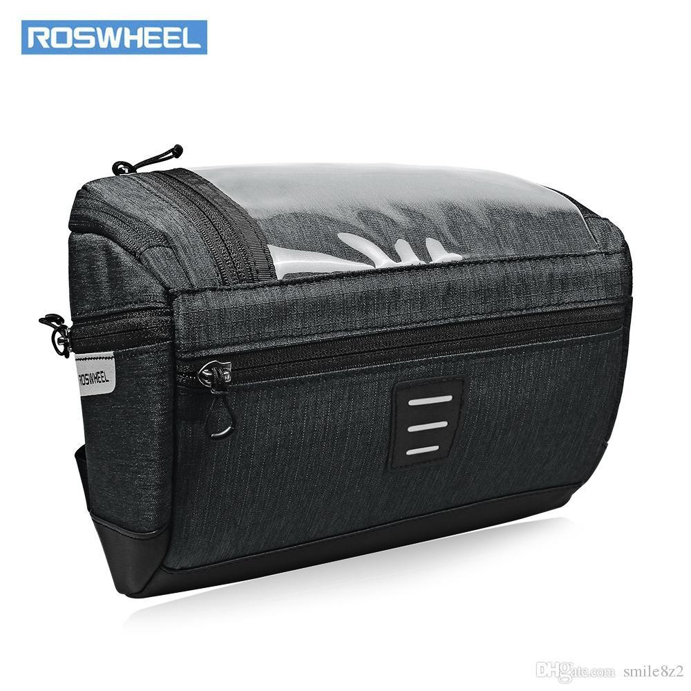 2020 Roswheel 3l Bicycle Front Handlebar Bag Waterproof Bike Basket Mtb Bike Road Bicycle Bags With Pvc Touch Screen Membrane Vb From Smile8z2 19 6 Dhgate Com