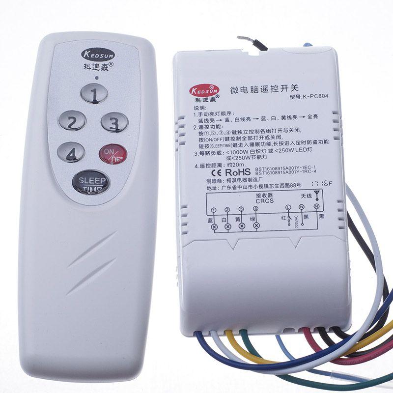 Controle Remoto Kedsum Digital interruptor 220V Microcomputador Controle Remoto Switch Um Dois Três Quatro Maneiras Opcional