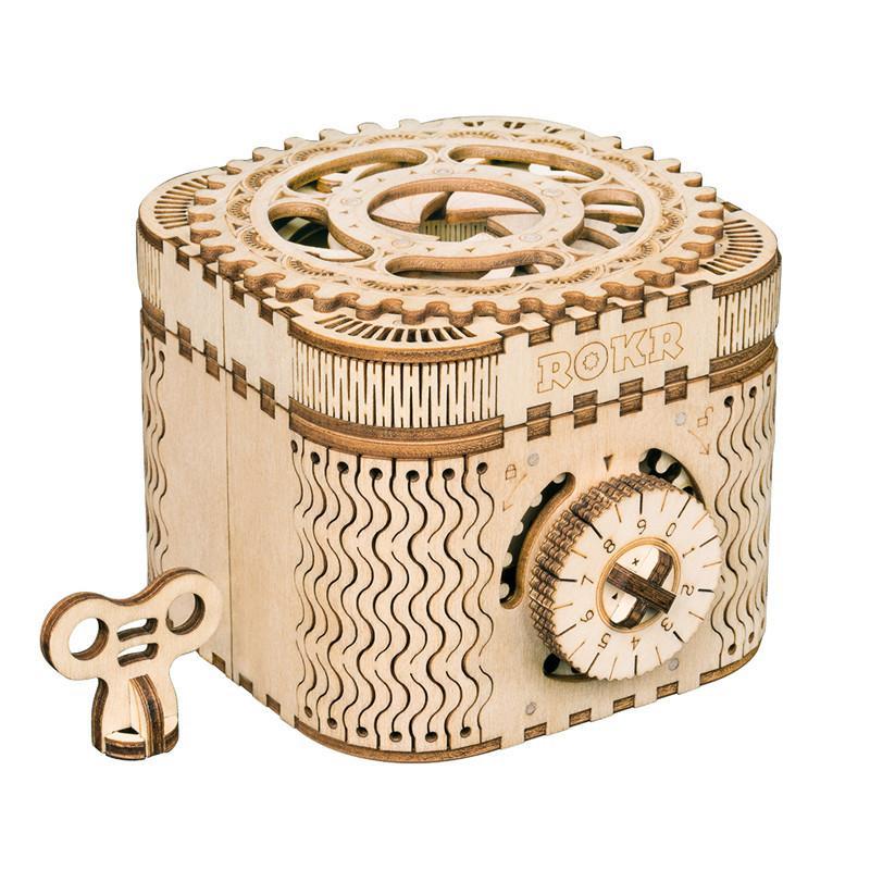 Robotime 아이들을위한 크리 에이 티브 DIY 3D 보물 BoxCalendar 나무 퍼즐 게임 조립 장난감 선물 청소년 성인 LK502