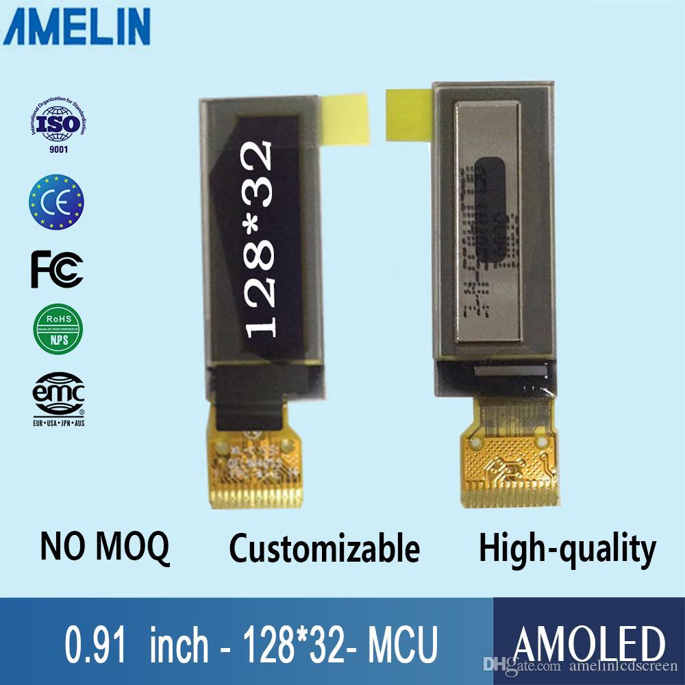 display a cristalli liquidi OLED da 0,91 pollici 128 * 32 piccolo con schermo amoled interfaccia MCU