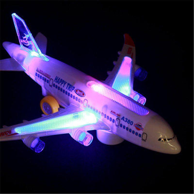 Elektrikli Uçak Oyuncak Modeli Müzik Evrensel Işık Çocuk Oyuncak Hava Otobüs Uçağı Modeli H369