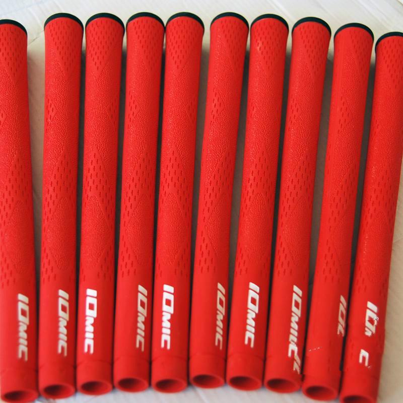 Commercio all'ingrosso New Golf Grip Top Quality IOMIC Gomma Golf Clubs Grips 1 pz / lotto 10 colori possono mescolare il colore Golf ferri Grips Spedizione gratuita