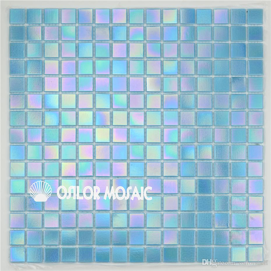 2020 Blue Glass Mosaic Tile For Bathroom And Kitchen And Swimming