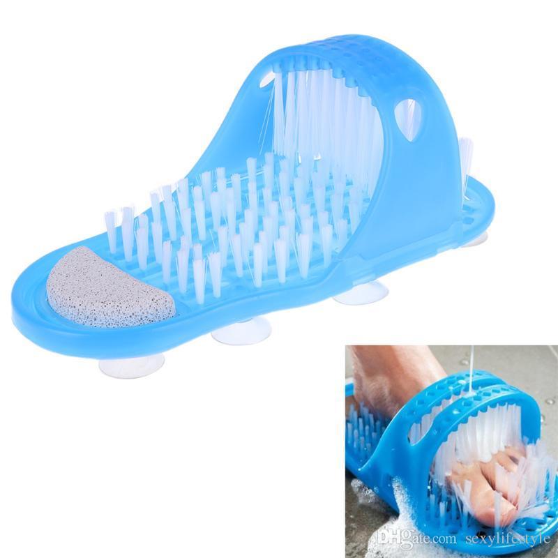 Kunststoff Bad Dusche Füße Massage Hausschuhe Bad Schuhe Pinsel Bimsstein Fuß Scrubber Spa Dusche entfernen abgestorbene Haut Fußpflege Werkzeug