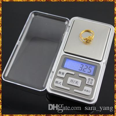 20 sztuk Darmowa Wysyłka Mini Elektroniczna Skala Kieszonkowa 200g 0.01g Biżuteria Diamentowa Skala Saldo Skala LCD Wyświetlacz z pakietem detalicznym