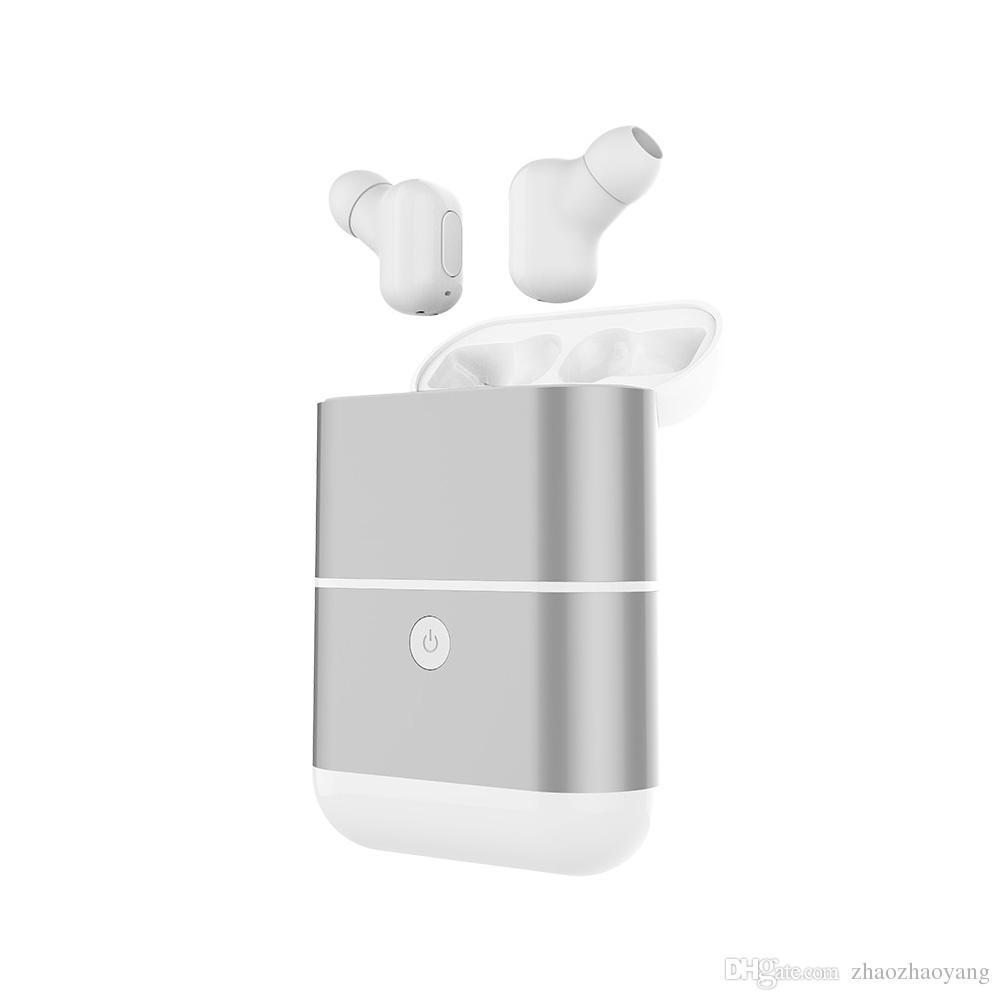 휴대폰 충전 듀얼 귀 블루투스 스테레오 작은 눈에 보이지 않는 미니 이어폰 방수 및 저항 대용량 배터리 무선