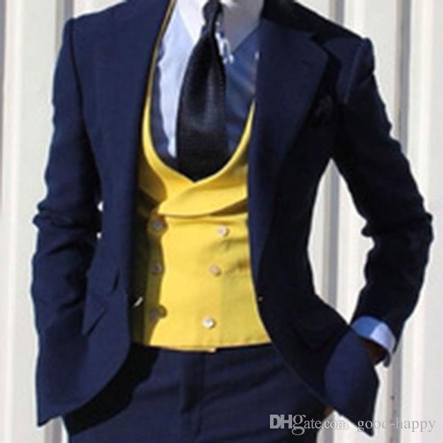 Slim Fit королевский синий жених смокинги мужчины формальные костюмы деловые мужчины носят свадебные выпускного вечера ужин костюмы на заказ (куртка+брюки+галстук+жилет)нет; 727