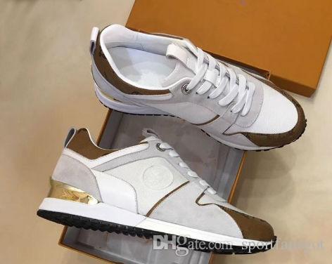 Кожаные туфли VNR убегающие Повседневные туфли Женщины Мужчины Камуфляжные Кроссовки Обувь Мода Кожа Кружева Убегайте Обувь с Коробками Сумки для пыли