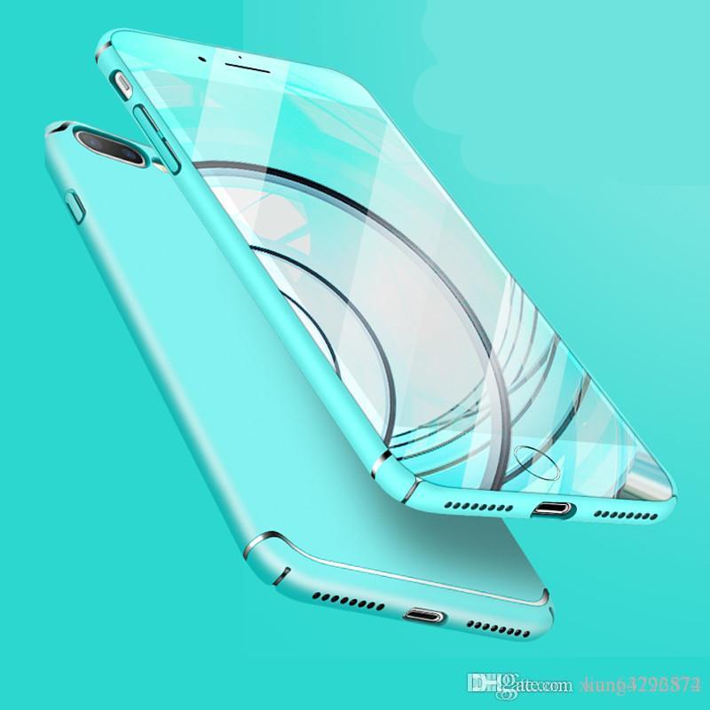 Caja del teléfono para el caso del iPhone X Caja ultrafina delgada del teléfono de la protección para el iPhone 6 6s 6 más 7 7s 7 más 8 cubierta protectora