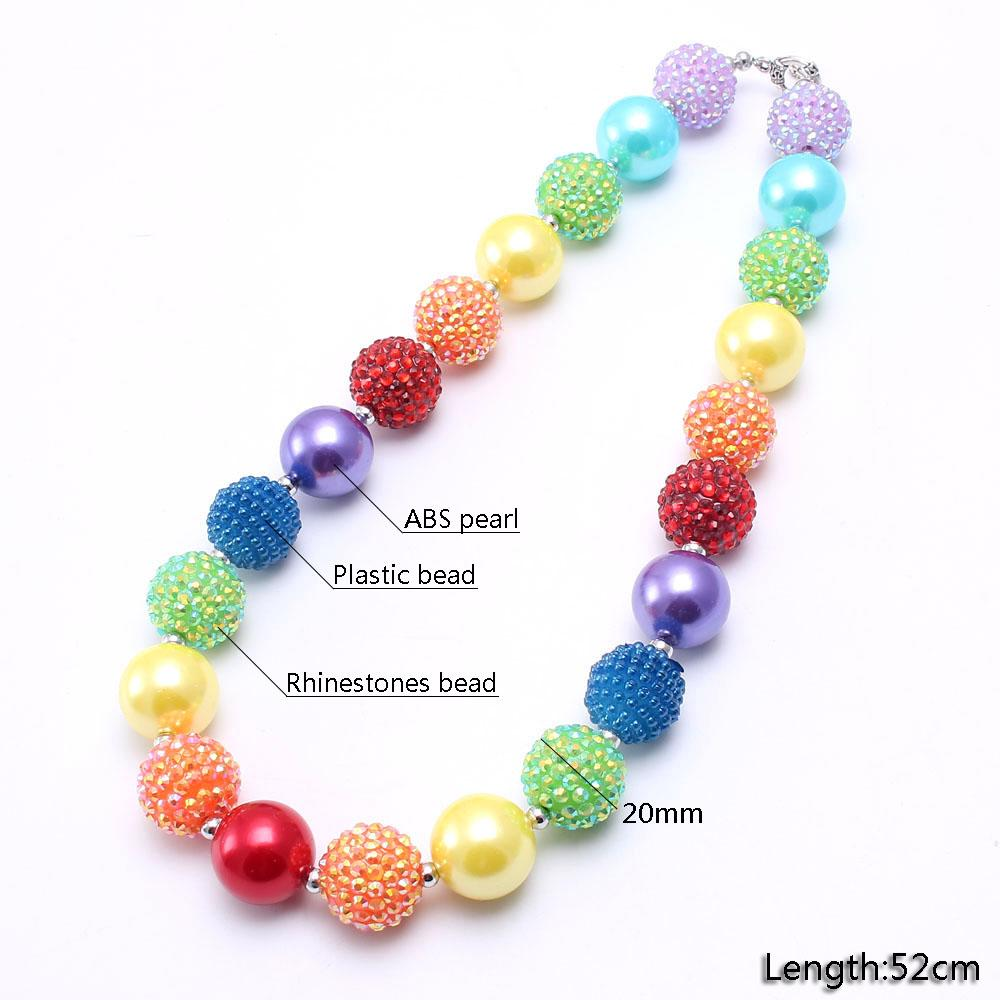 Pretty Long Rainbow Chunky Glass /& Ceramic Necklace NEW