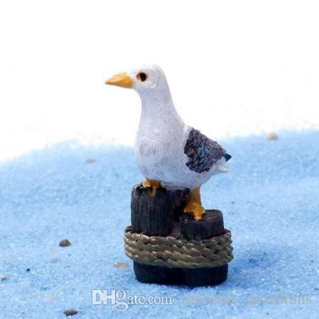 1 ADET Deniz Kuş Martı Standı Güdük Minyatür Peri Bahçe Ev Dekorasyon Mini Zanaat Mikro Peyzaj Dekor DIY Aksesuarları