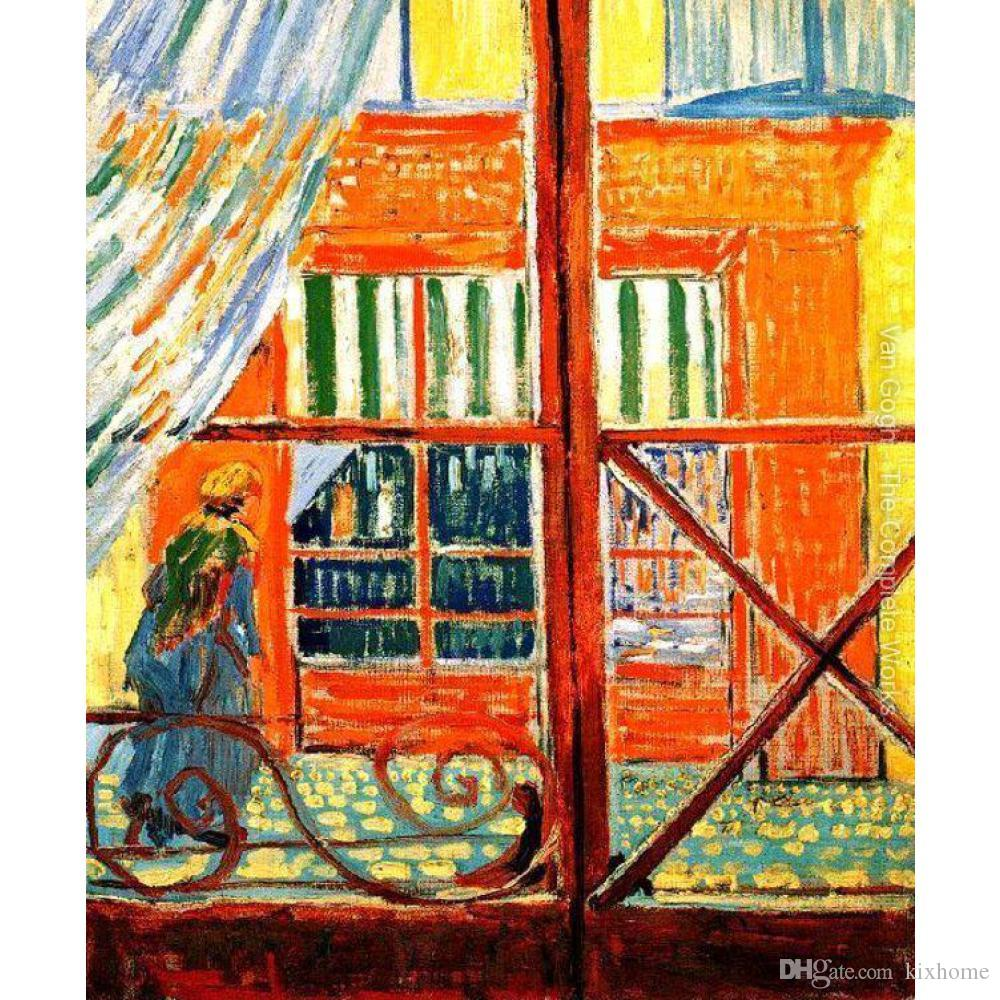 Handmade artwork modern paintings by Vincent Van Gogh A Pork-Butchers Shop Seen from a Window canvas for bedroom decor