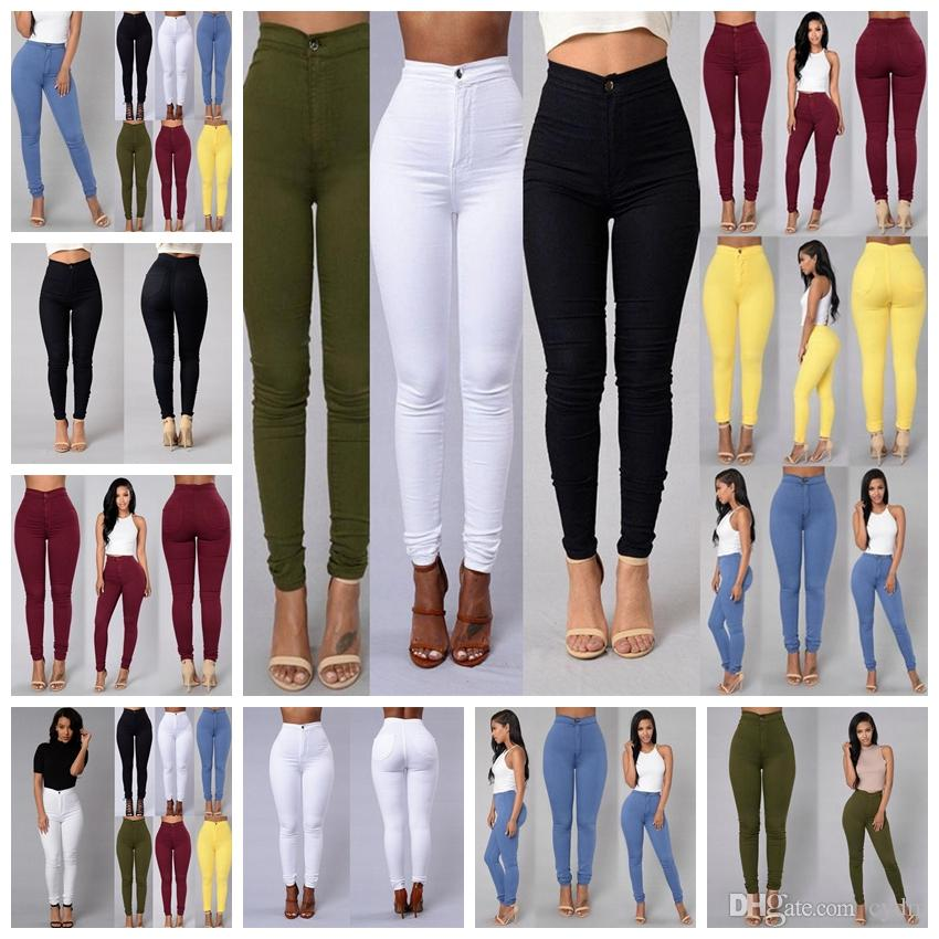 Fashion Girls Soft Tight Trousers Pants Two Mixed Colors Leggings Stretch