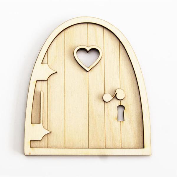 3d Wooden Fairy Garden Heart Door Craft Embellishments Decoration Diy  Painting Decoration Kids Birthday Hobby Gift NZ 2019 From Hopestar168, NZ  $24.11