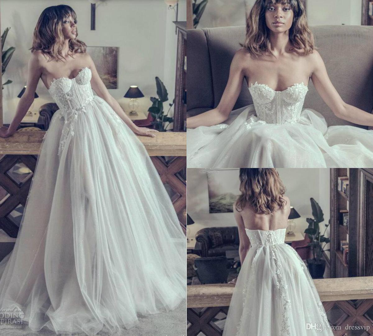 Adam Zohar Beach Suknie ślubne Linia Sweetheart Długość podłogi Appliues Sexy Back Lace Suknie Ślubne Custom Made Plus Size Sukienka ślubna