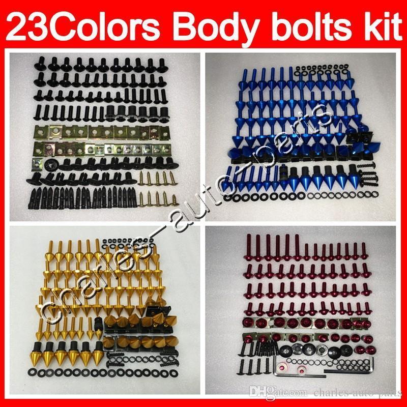 25 colores para TODAS las bicicletas Kit de tornillos completos de tornillos de carenado Para HONDA KAWASAKI SUZUKI YAMAHA DUCATI BMW TRIUMPH Agusta Aprilia Cuerpo Tuercas tornillos de tornillo