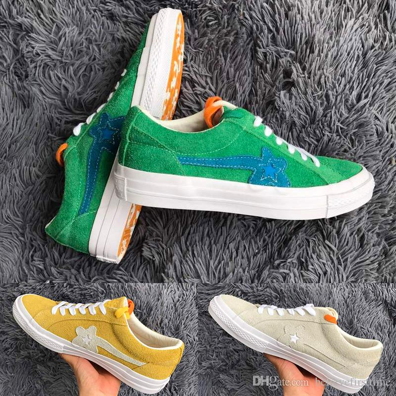 2020 New One Star X Golf Le Fleur Ttc Creator Green Yellow Grey Beige Sunflower Mens Womens Casual Fashion Running Skate Shoes Men Sneakers From Believefirsttime 66 33 Dhgate Com