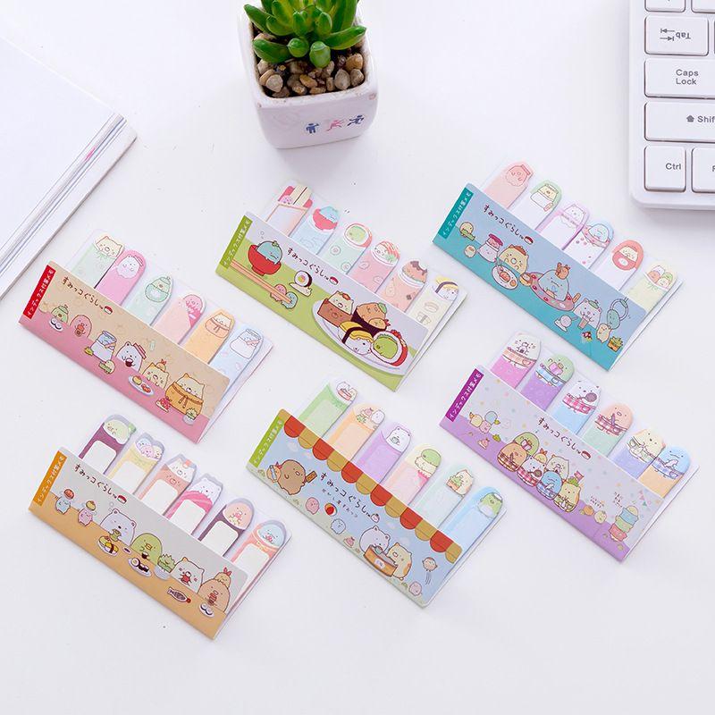 Sumikko Gurashi Dedo Memo Pad Sticky Notes Compras Escolar Papelaria Etiqueta Da Fonte de Escola