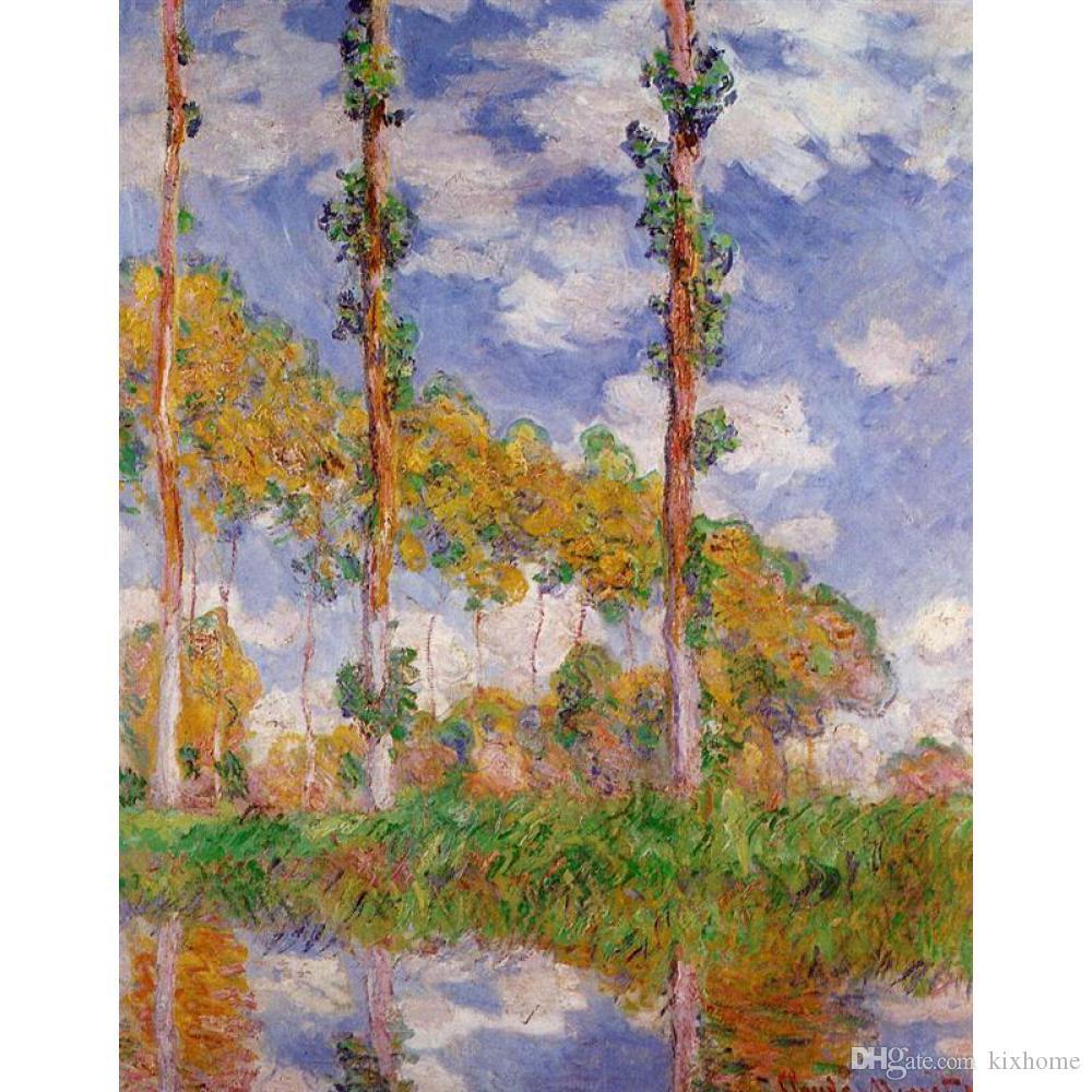 Beste Ölgemälde Drei Bäume im Sommer Claude Monet Handgemalte Landschaften für Raumdekor