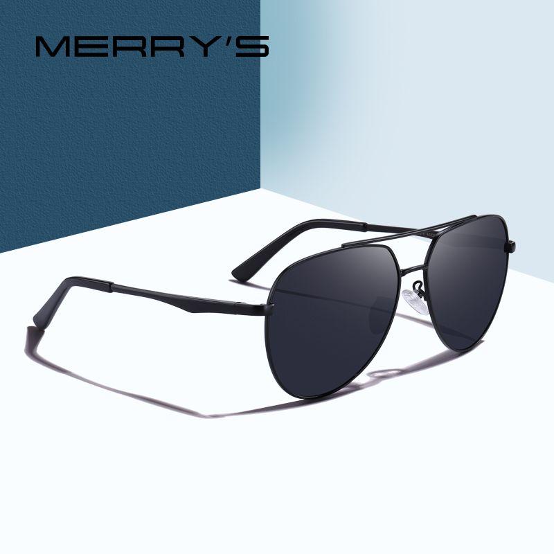MERRY'S DESIGN Homens Clássico Óculos De Sol Piloto Aviação Quadro HD Óculos De Sol Polarizados Para Homens de Condução Proteção UV400 S'8316
