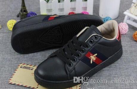 Marque Nouvelle Personnalité De Luxe Marques Hommes Femmes Casual Chaussures Sneakers Petite Abeille Tête De Tigre Blanc Chaussures Plate Sneaker Chaussures De Marche