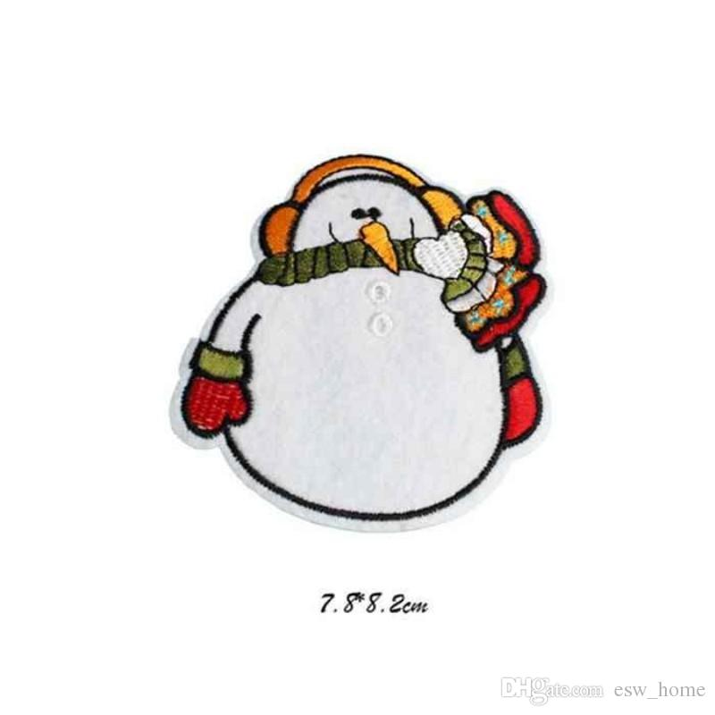 Bordado bonito Costurar Em Ferro Em Patch Patches de Tecido Emblema de Natal Saco de Roupas Applique Transferência de Artesanato