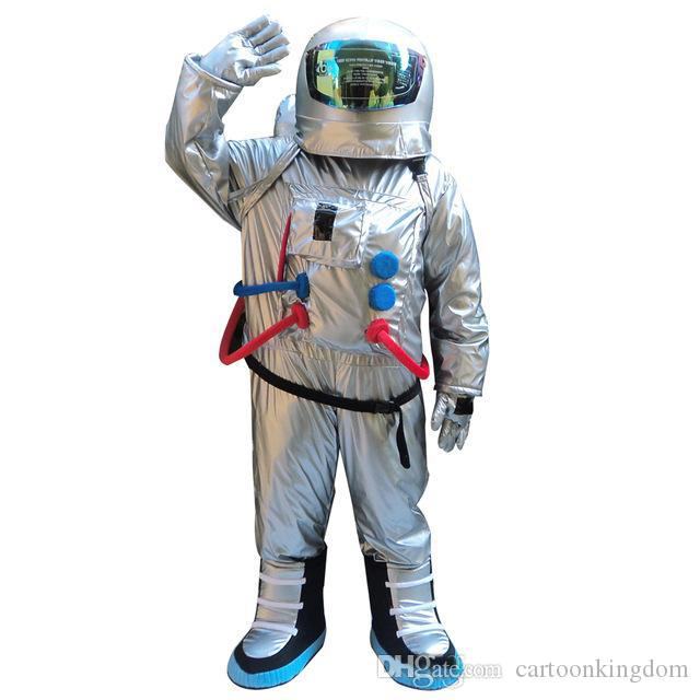 2018 Fabrika doğrudan satış Uzay suit maskot kostüm Sırt Çantası ile astronot maskot kostüm eldiven, shoesFree Nakliye