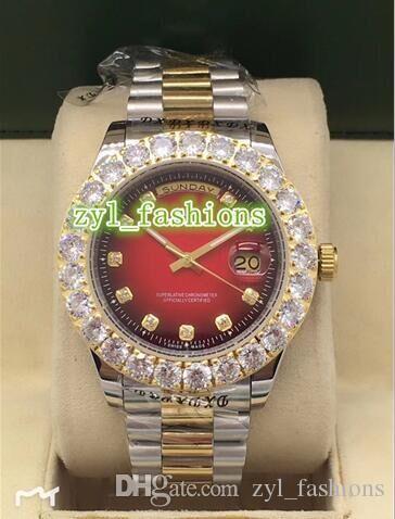 Двойной календарь мужские автоматические механические часы Зубец набор алмазов мода роскошные часы Bi золото из нержавеющей стали водонепроницаемый спортивные часы