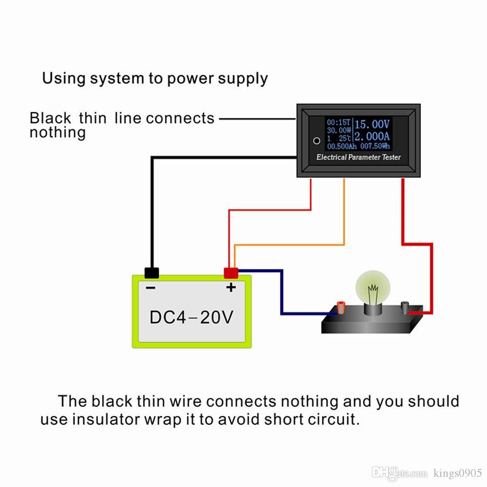 Misuratore di potenza wattmetro OLED 7 in 1 swr Parametro elettrico Misuratore di tensione Tensione Tempo corrente Potenza Energia Capacità Temperatura Tester