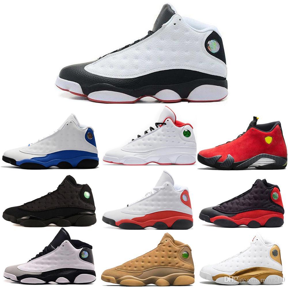 13 13 s erkek basketbol ayakkabı Phantom Hyper Kraliyet İtalya Mavi Bordeaux Flints Chicago Bred DMP Buğday Zeytin Fildişi Siyah Kedi erkek ayakkabı boyutu 13