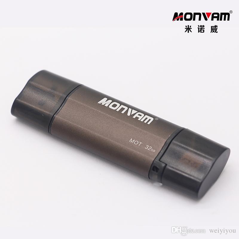 براون بندريف 2.0 الهاتف الخليوي الذكية USB ذاكرة عصا وتغ مايكرو USB فلاش حملة عالية السرعة ذاكرة USB عصا ل Monvam MOT